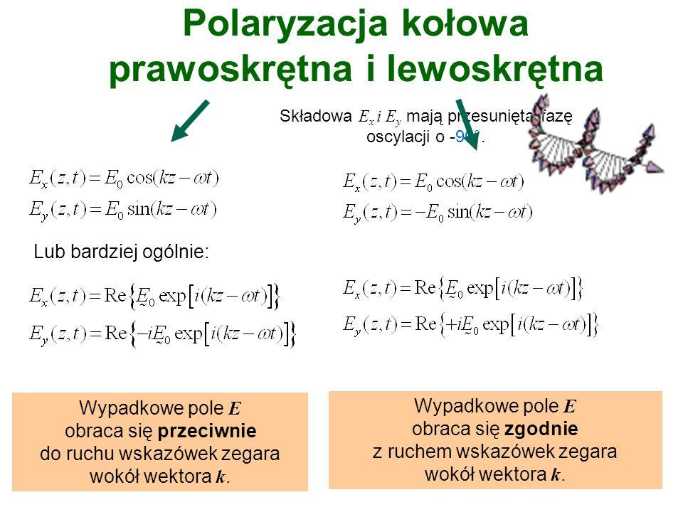 Polaryzacja kołowa prawoskrętna i lewoskrętna