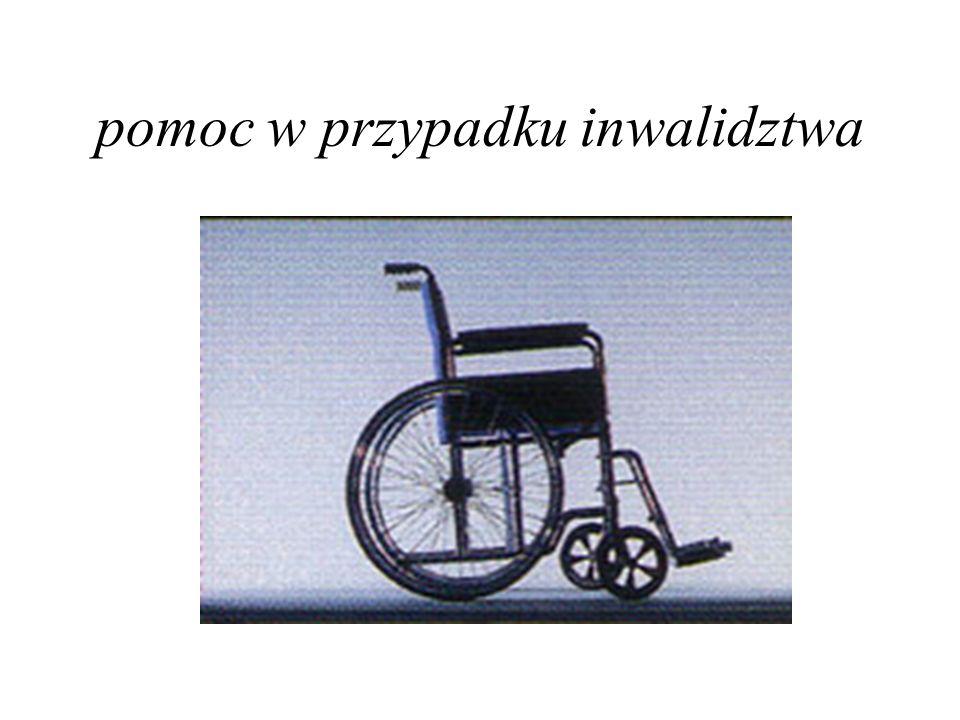 pomoc w przypadku inwalidztwa