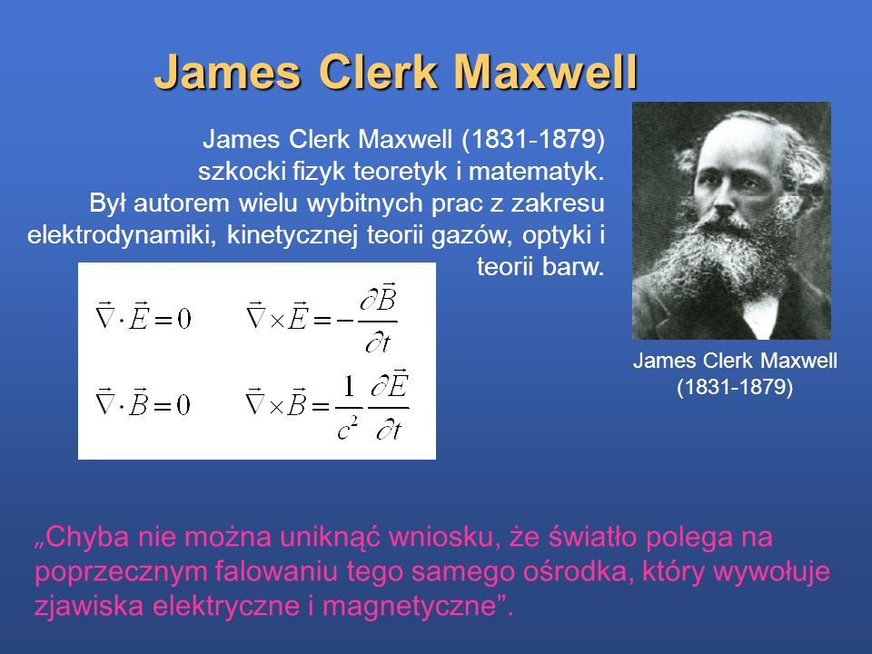 James Clerk Maxwell (1831-1879)