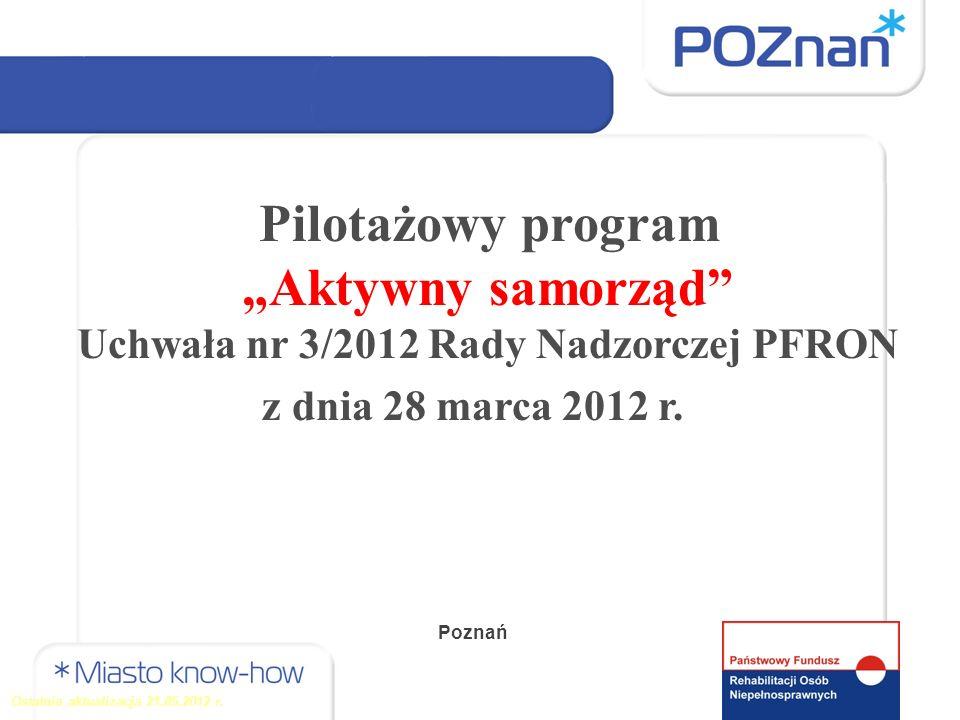Uchwała nr 3/2012 Rady Nadzorczej PFRON z dnia 28 marca 2012 r.
