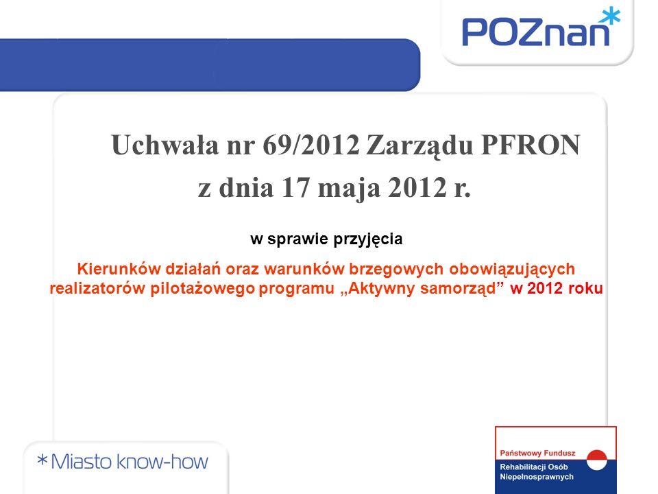 Uchwała nr 69/2012 Zarządu PFRON z dnia 17 maja 2012 r.