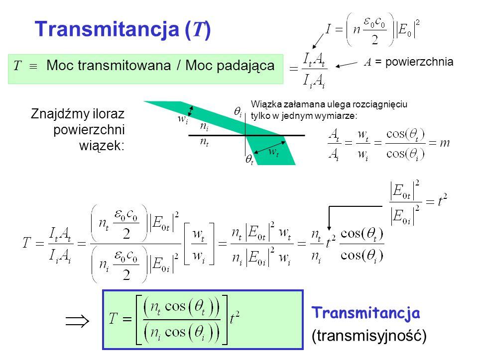Transmitancja (T) Transmitancja (transmisyjność)