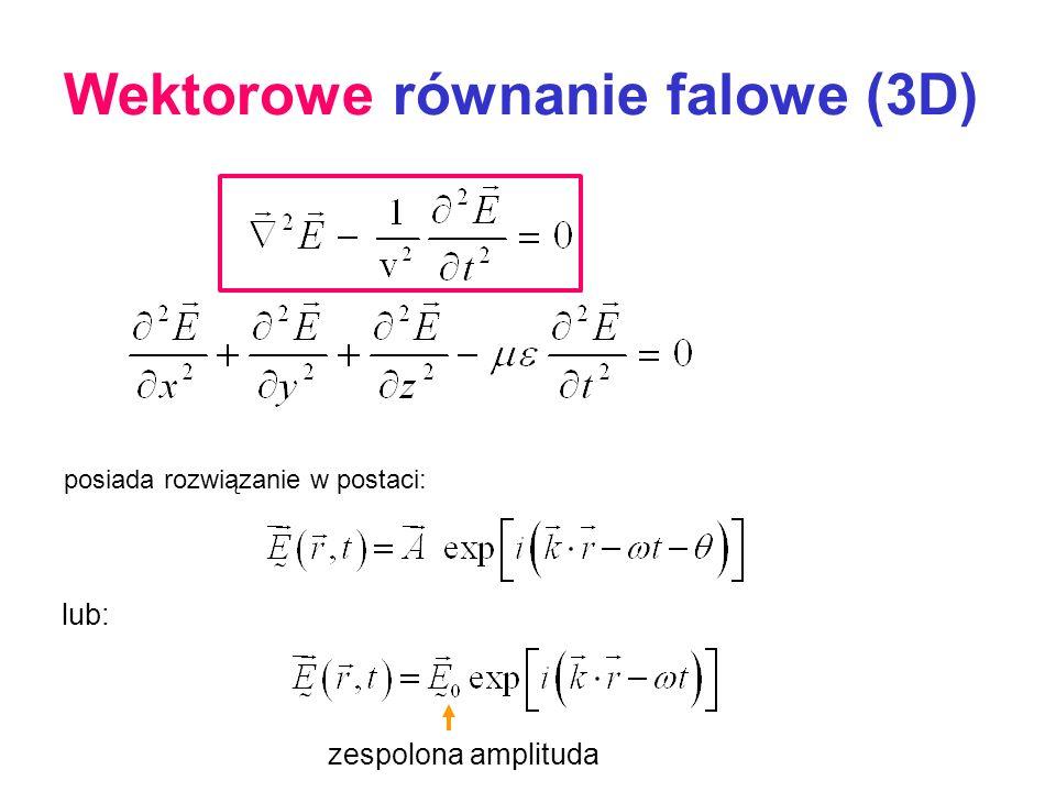 Wektorowe równanie falowe (3D)