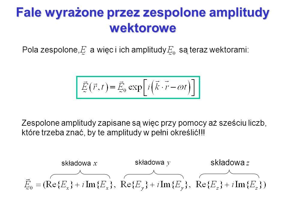 Fale wyrażone przez zespolone amplitudy wektorowe