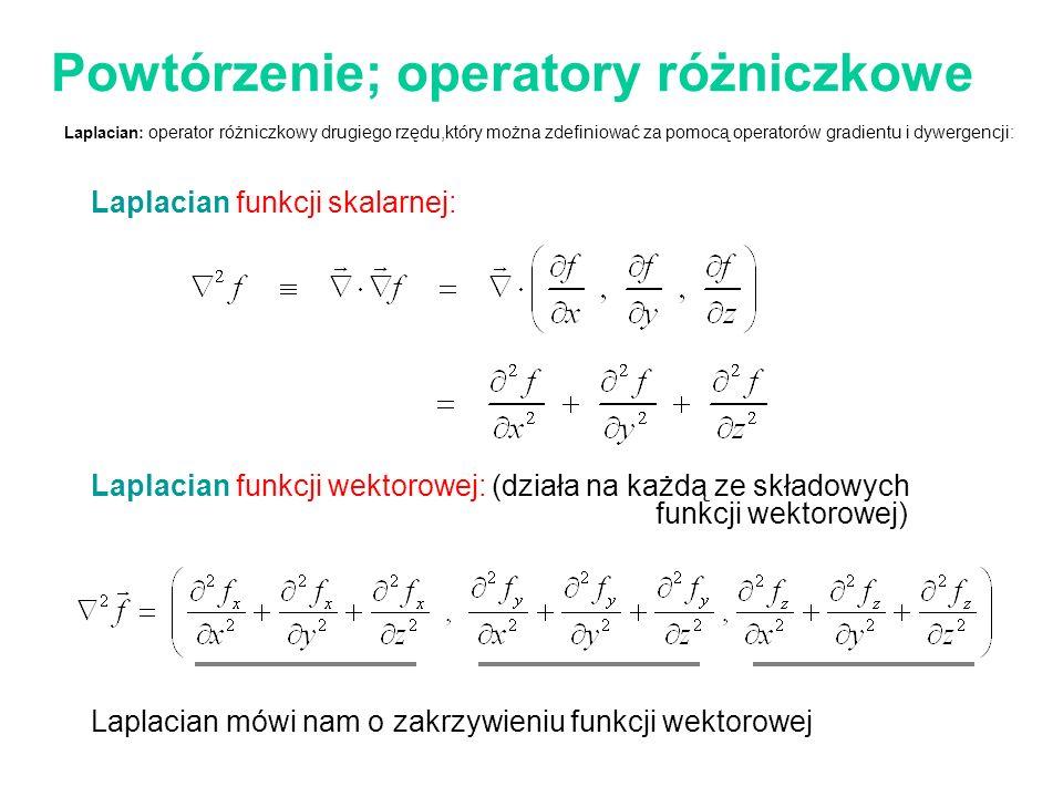 Powtórzenie; operatory różniczkowe