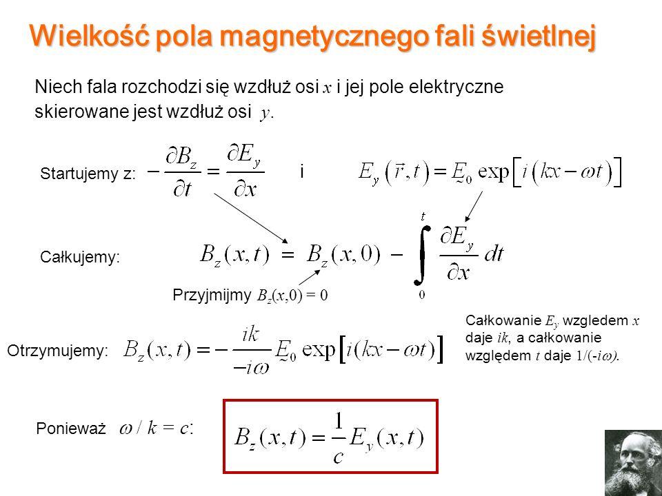 Wielkość pola magnetycznego fali świetlnej