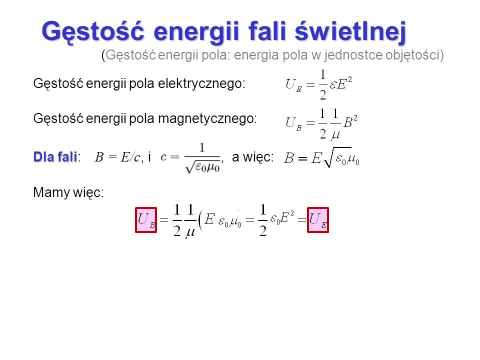 Gęstość energii fali świetlnej