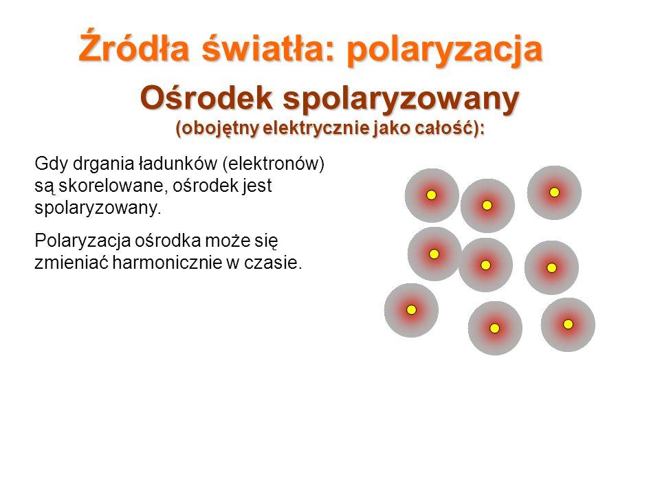 Ośrodek spolaryzowany (obojętny elektrycznie jako całość):