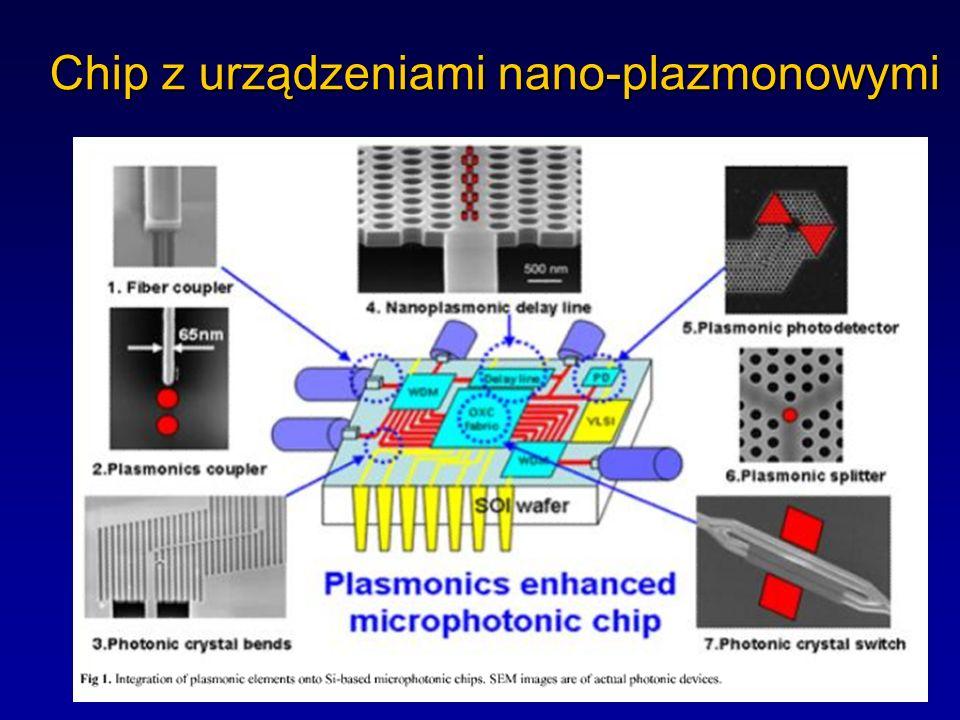 Chip z urządzeniami nano-plazmonowymi
