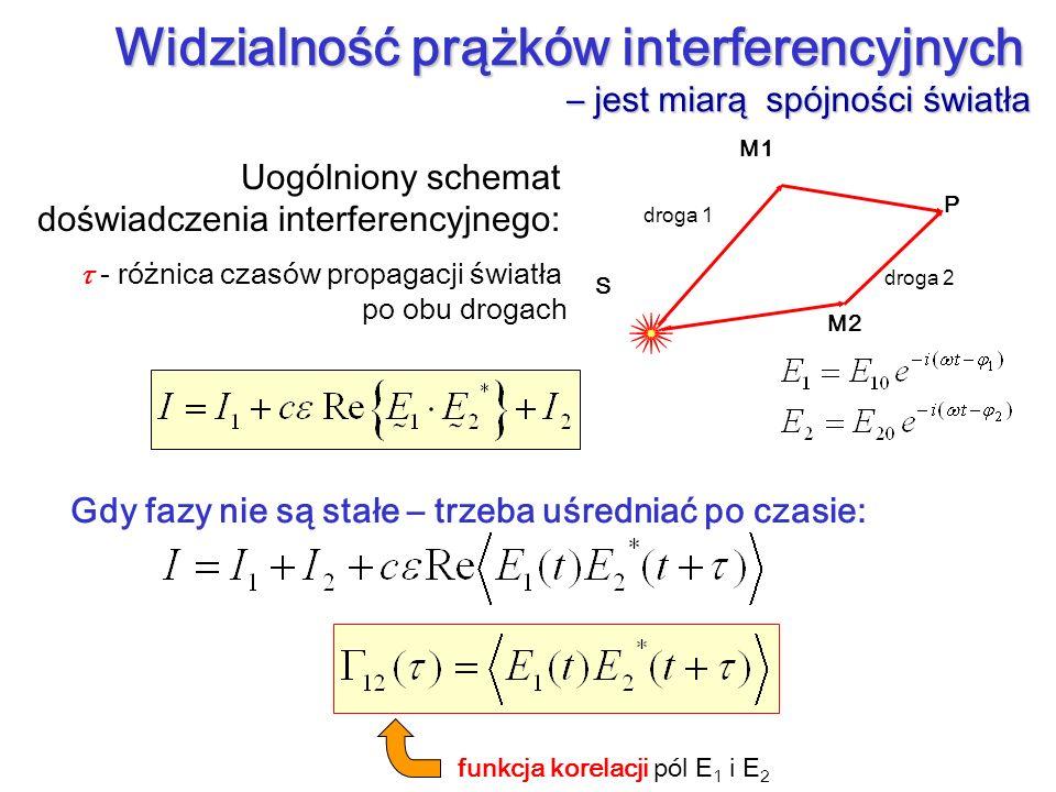 Widzialność prążków interferencyjnych