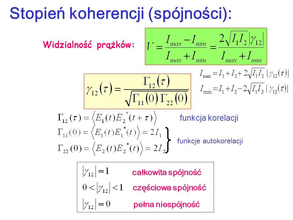 Stopień koherencji (spójności):