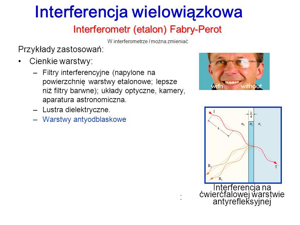 Interferencja na ćwierćfalowej warstwie antyrefleksyjnej