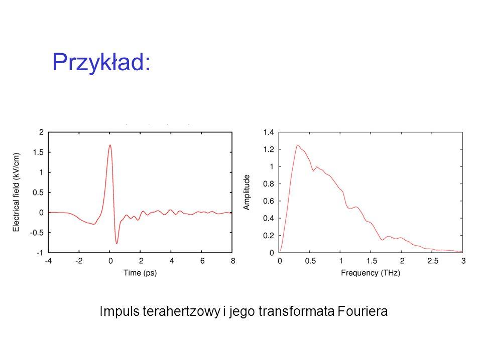Przykład: Impuls terahertzowy i jego transformata Fouriera
