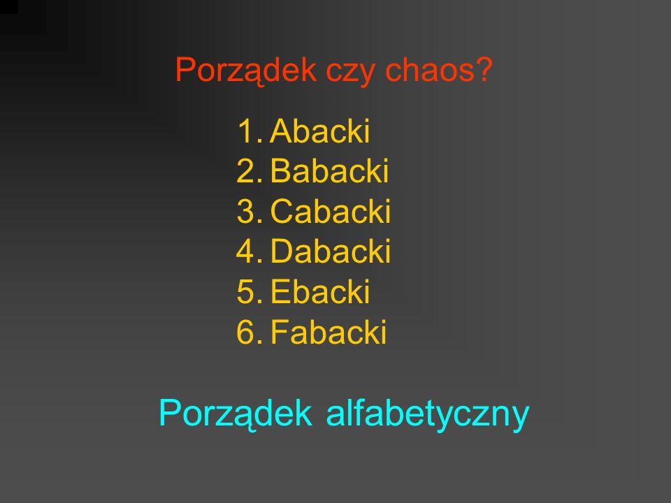Porządek alfabetyczny
