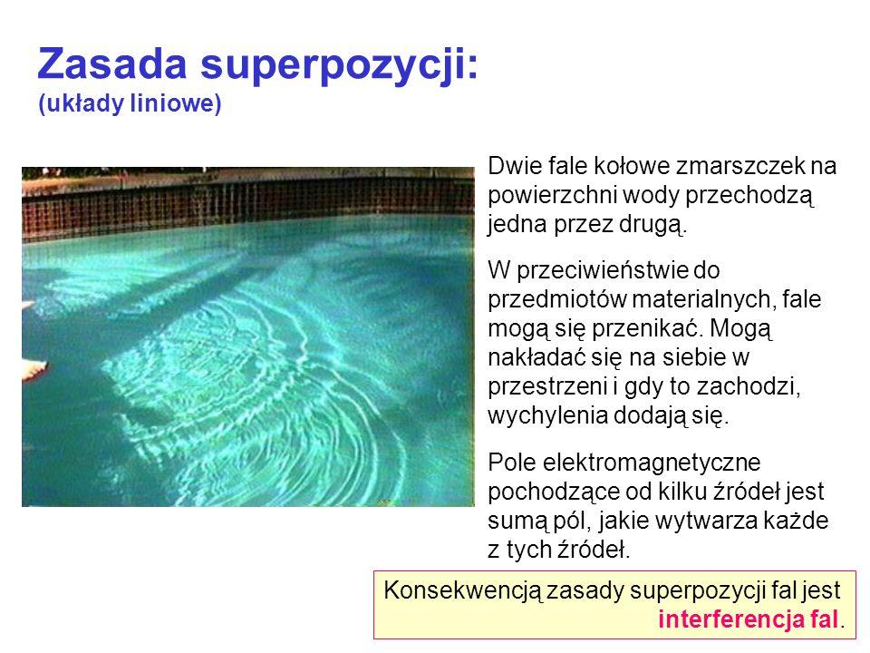 Zasada superpozycji: (układy liniowe)
