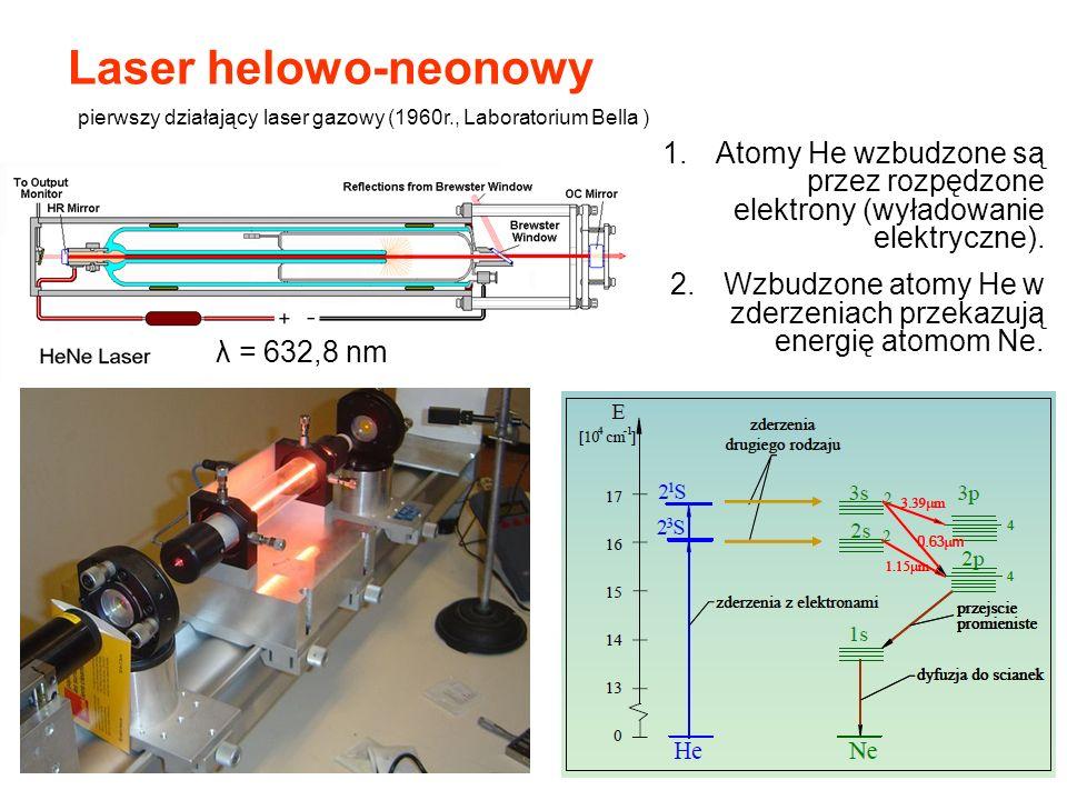 Laser helowo-neonowy pierwszy działający laser gazowy (1960r., Laboratorium Bella )