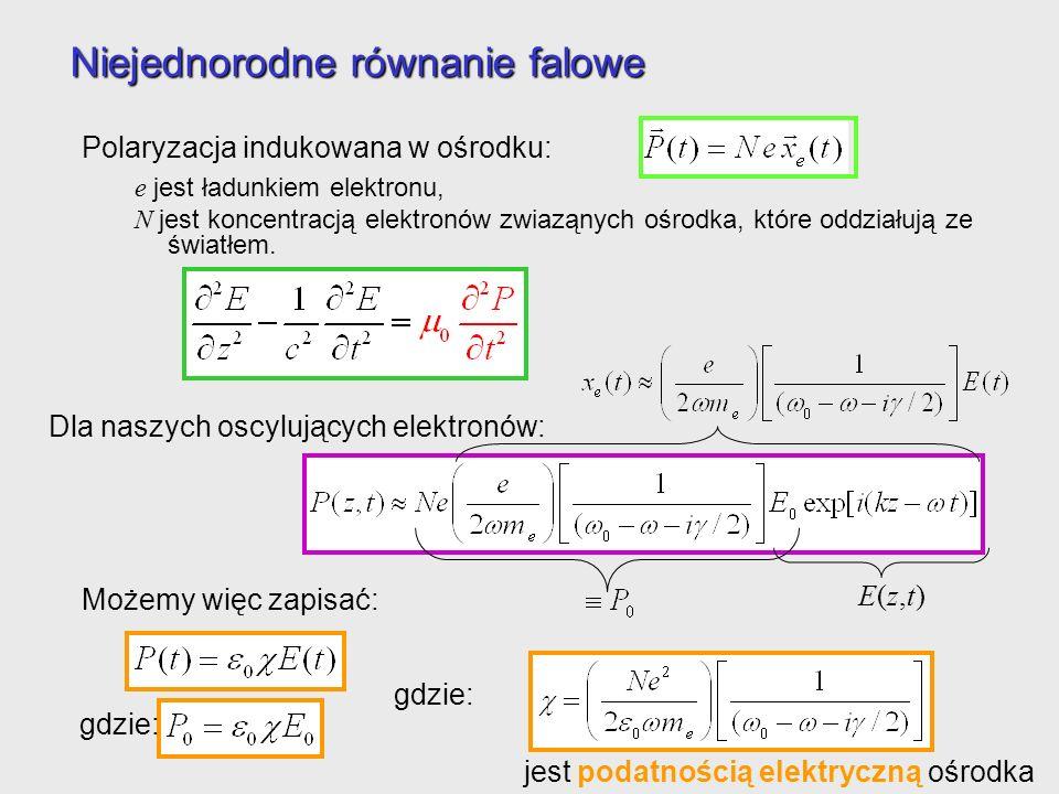 Niejednorodne równanie falowe