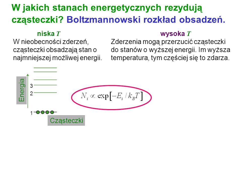 W jakich stanach energetycznych rezydują cząsteczki