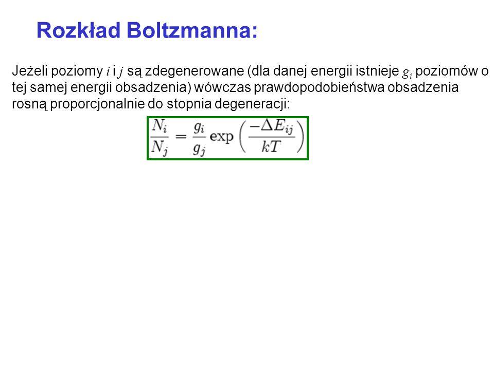 Rozkład Boltzmanna: