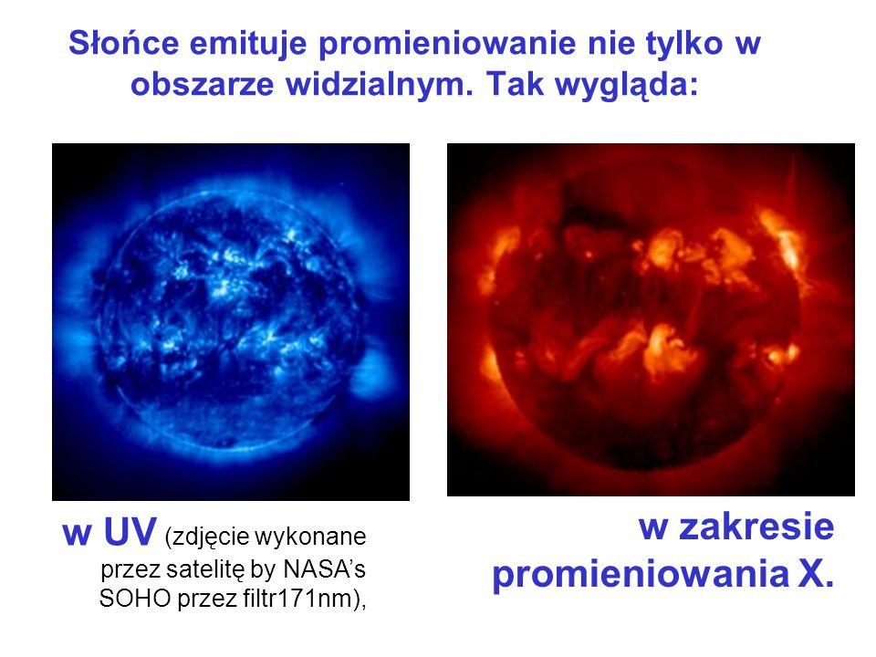 w zakresie promieniowania X.