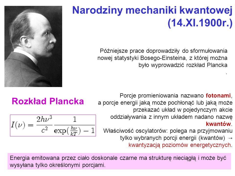 Narodziny mechaniki kwantowej (14.XI.1900r.)