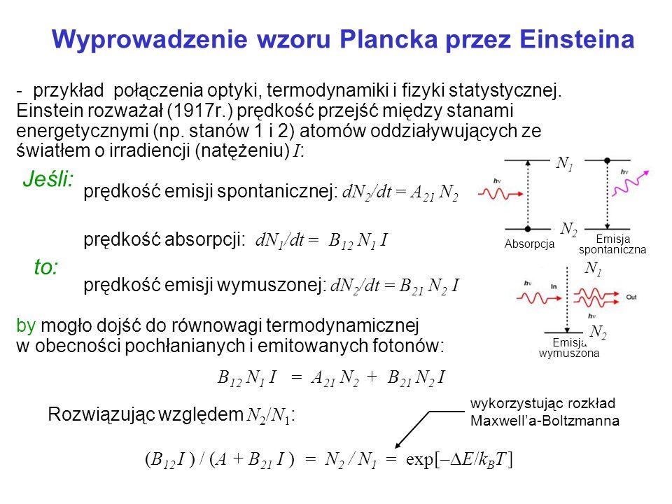 Wyprowadzenie wzoru Plancka przez Einsteina