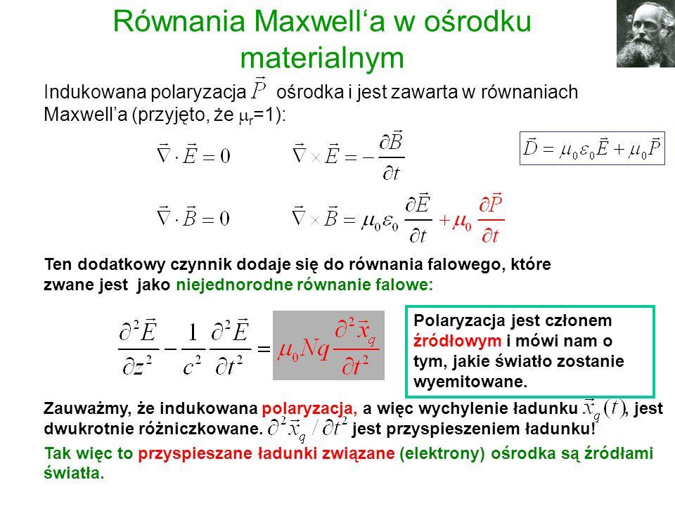 Równania Maxwell'a w ośrodku materialnym