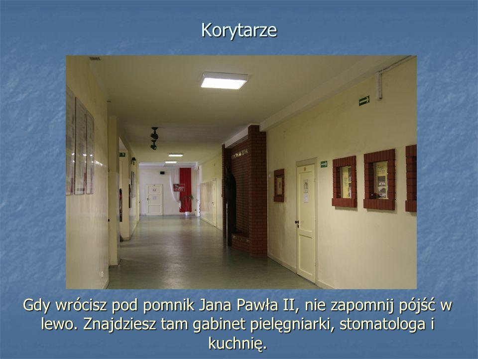 Korytarze Gdy wrócisz pod pomnik Jana Pawła II, nie zapomnij pójść w lewo.