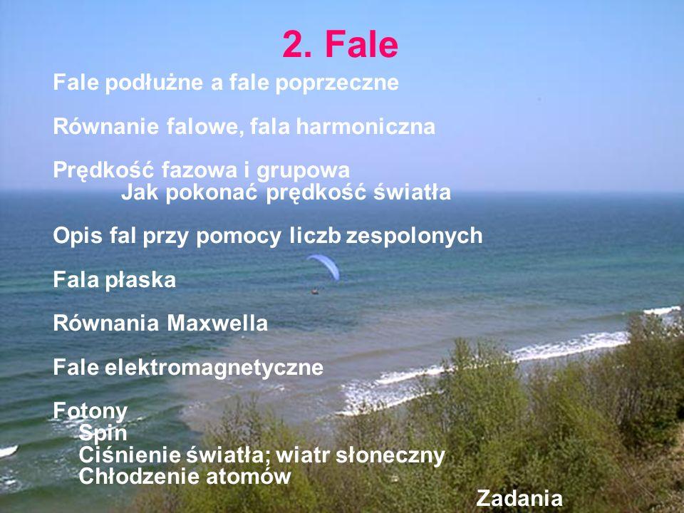 2. Fale Fale podłużne a fale poprzeczne