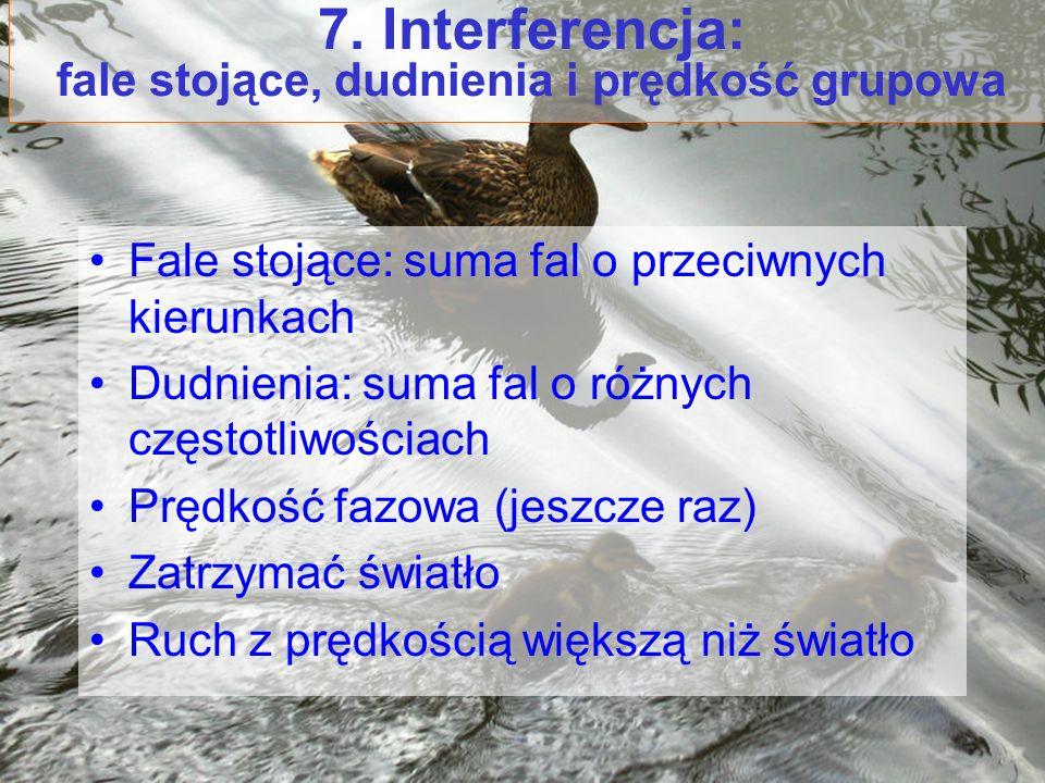 7. Interferencja: fale stojące, dudnienia i prędkość grupowa