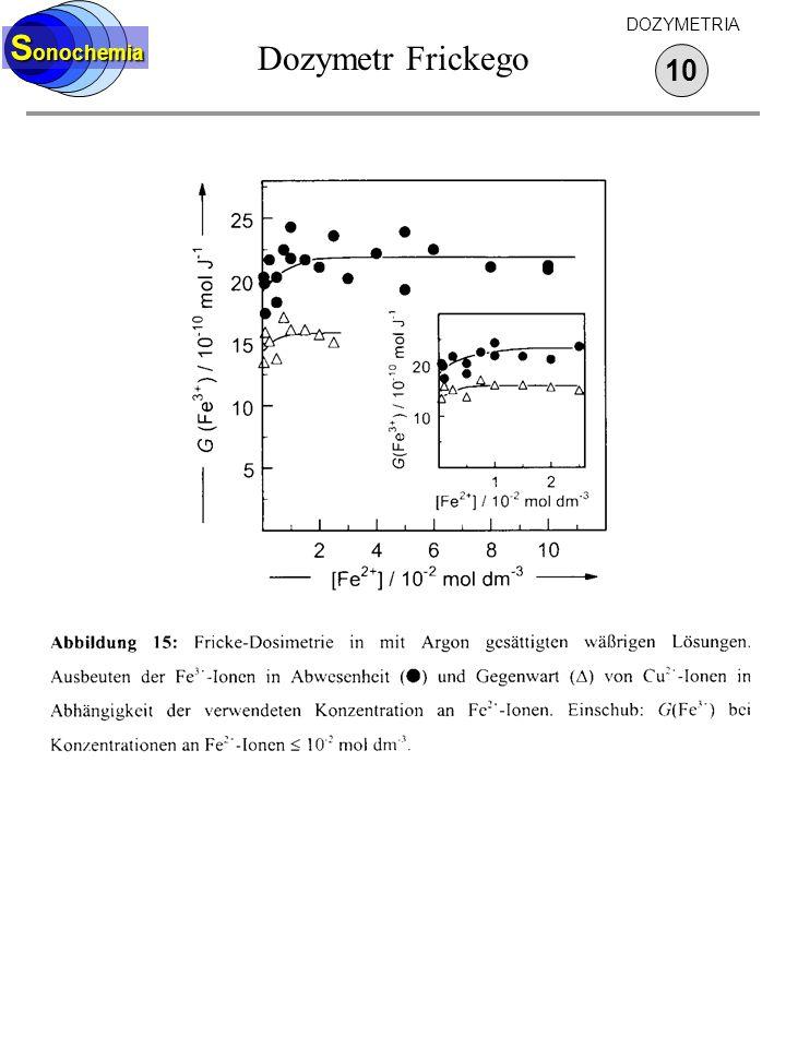 Sonochemia Dozymetr Frickego DOZYMETRIA 10