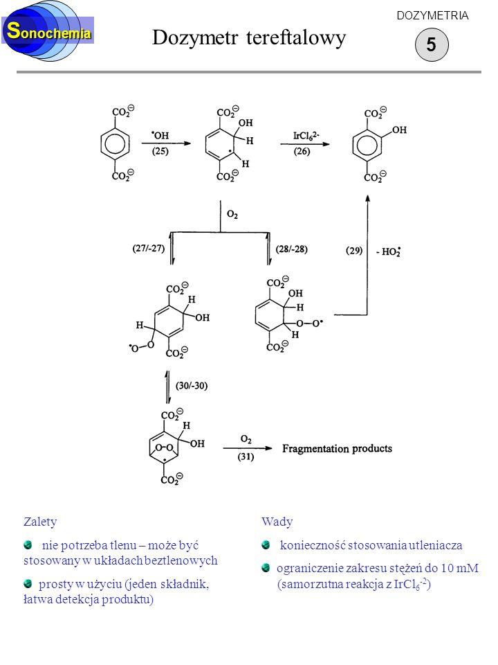 Dozymetr tereftalowy Sonochemia 5 Zalety