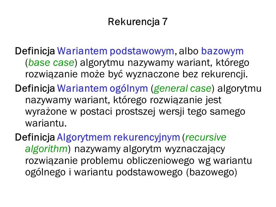 Rekurencja 7