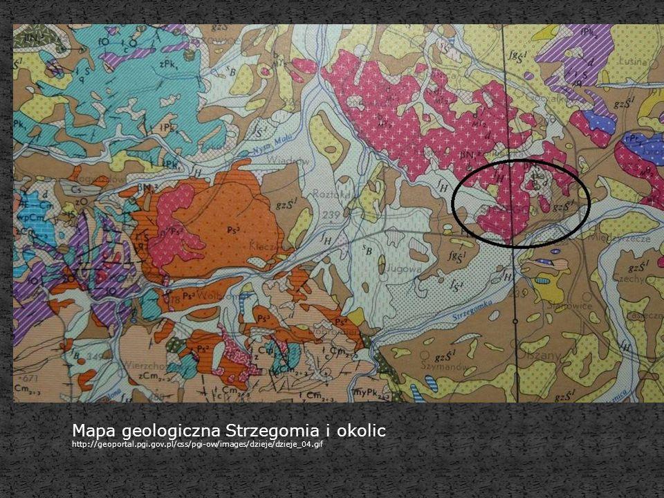 Mapa geologiczna Strzegomia i okolic