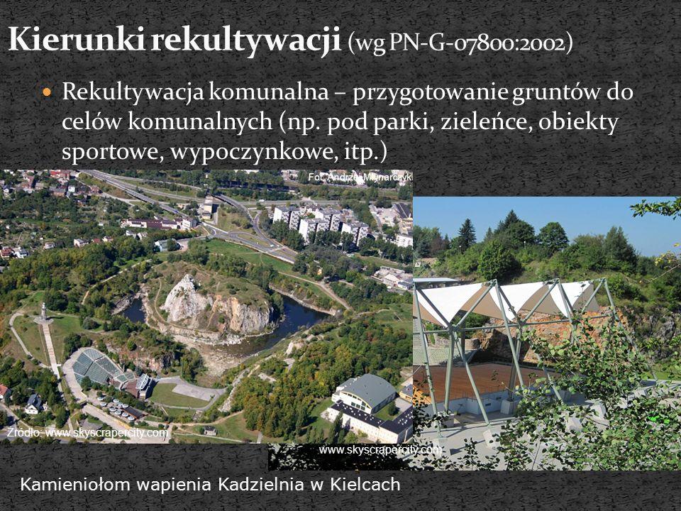 Kierunki rekultywacji (wg PN-G-07800:2002)