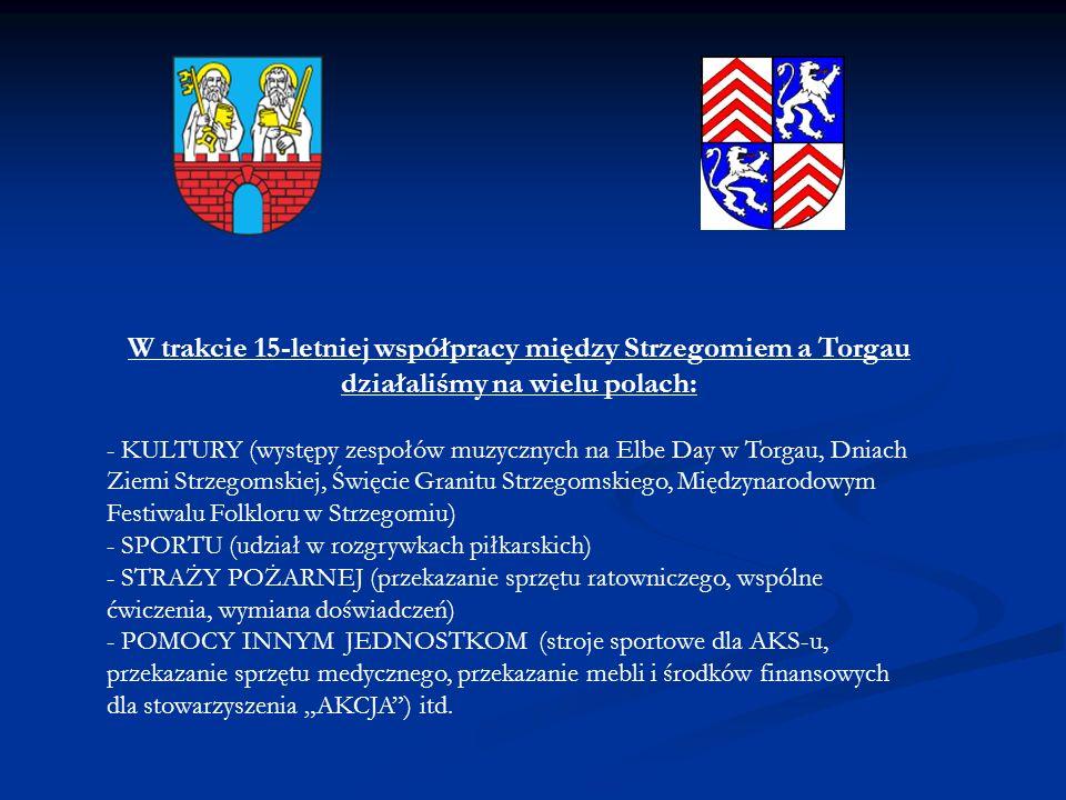 W trakcie 15-letniej współpracy między Strzegomiem a Torgau działaliśmy na wielu polach: