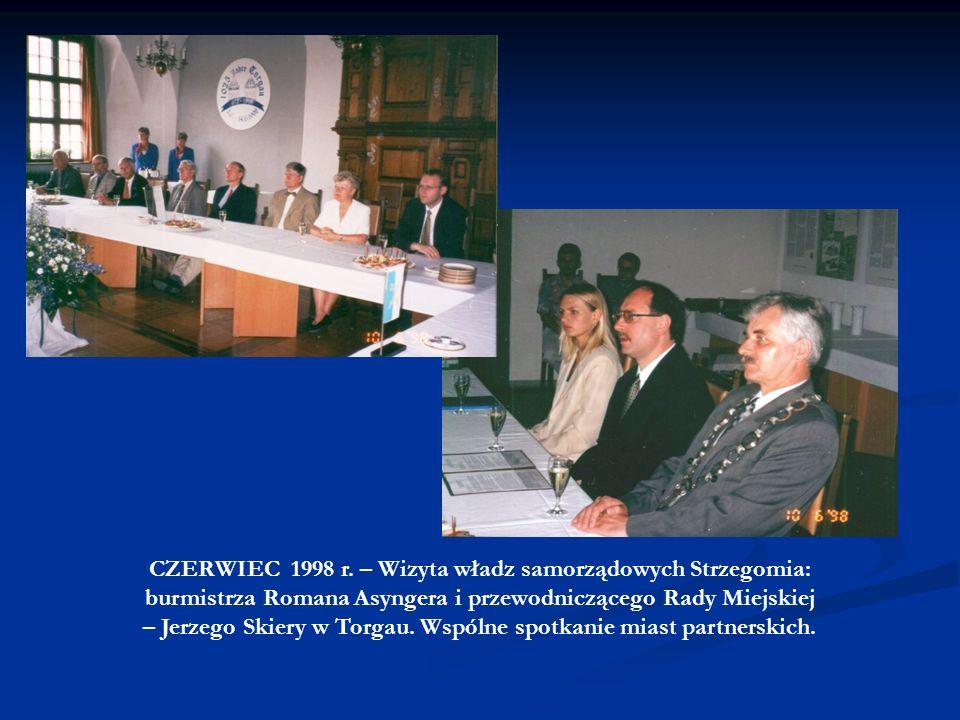 CZERWIEC 1998 r. – Wizyta władz samorządowych Strzegomia: