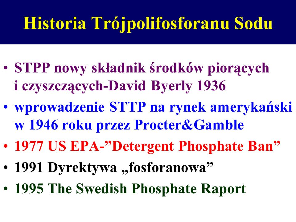 Historia Trójpolifosforanu Sodu