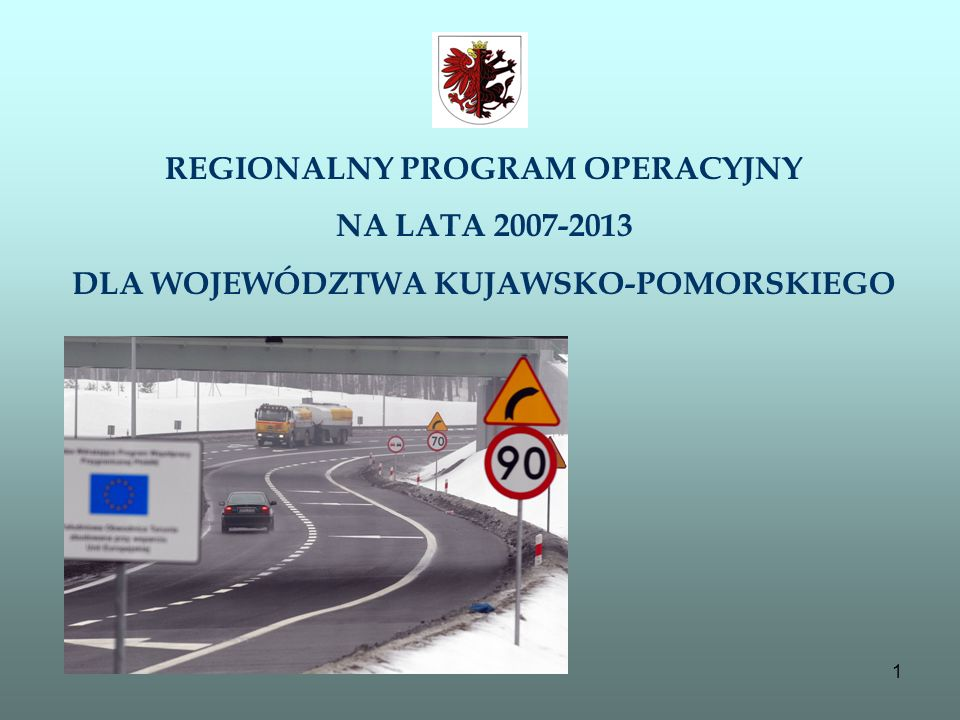 REGIONALNY PROGRAM OPERACYJNY DLA WOJEWÓDZTWA KUJAWSKO-POMORSKIEGO