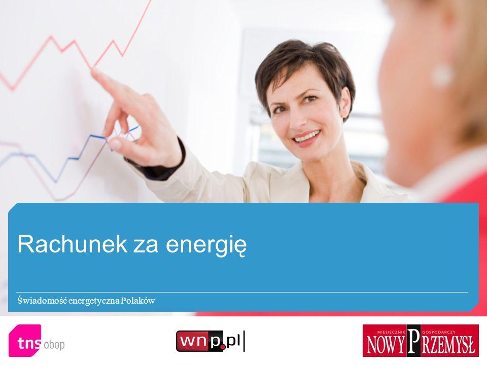 Rachunek za energię Świadomość energetyczna Polaków