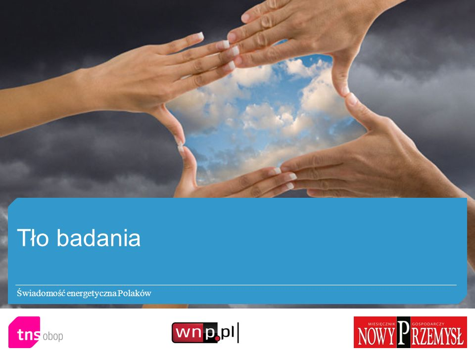 Tło badania Świadomość energetyczna Polaków