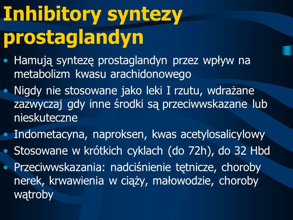 Inhibitory syntezy prostaglandyn