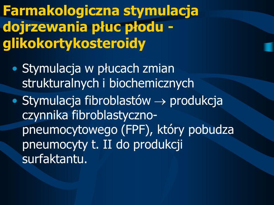 Farmakologiczna stymulacja dojrzewania płuc płodu - glikokortykosteroidy
