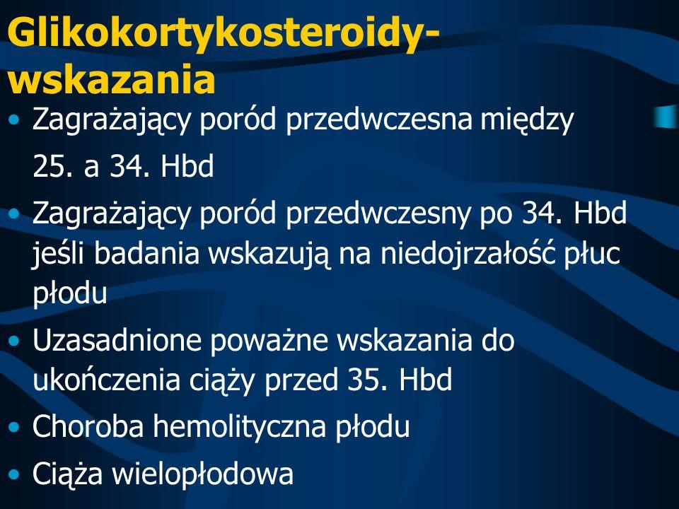 Glikokortykosteroidy- wskazania