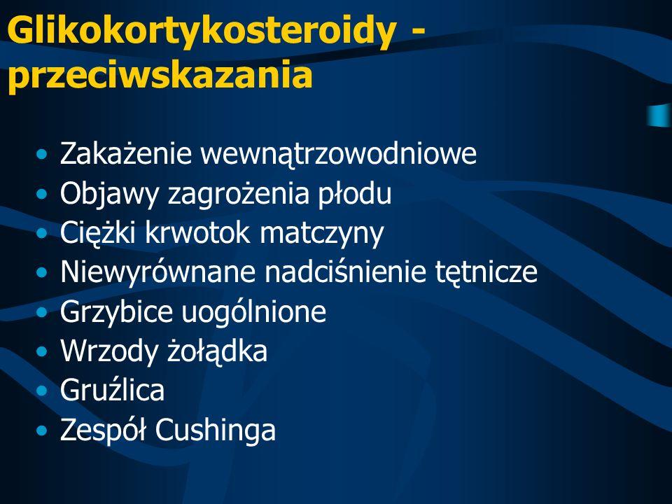Glikokortykosteroidy - przeciwskazania
