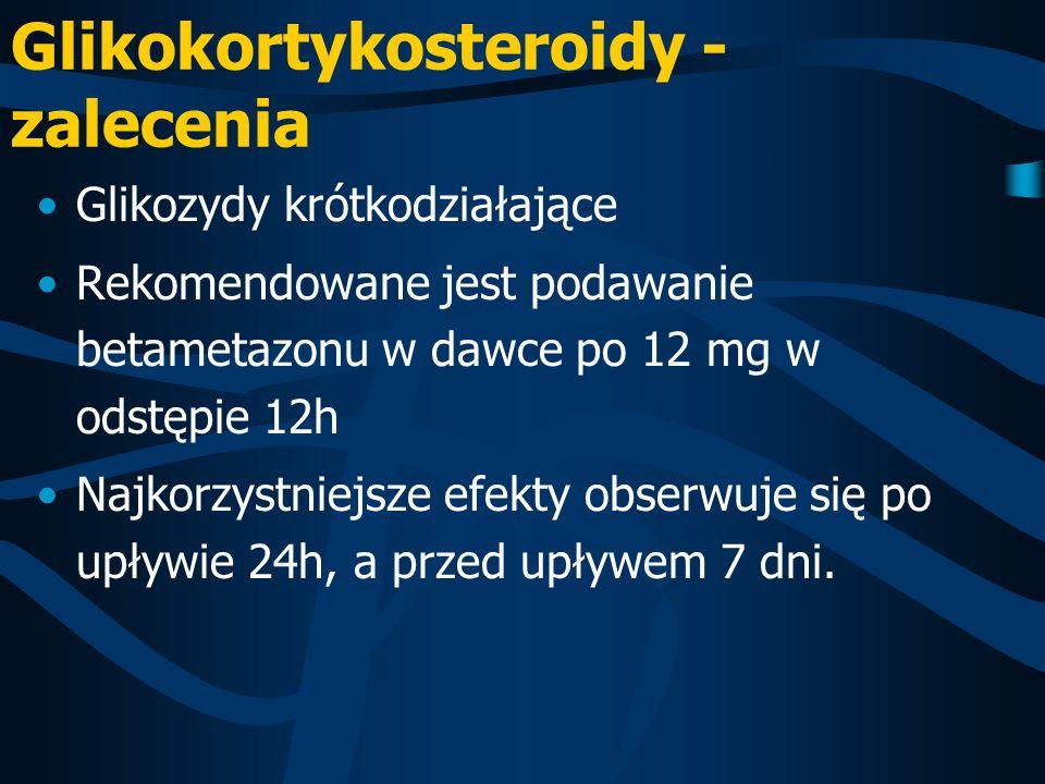 Glikokortykosteroidy - zalecenia