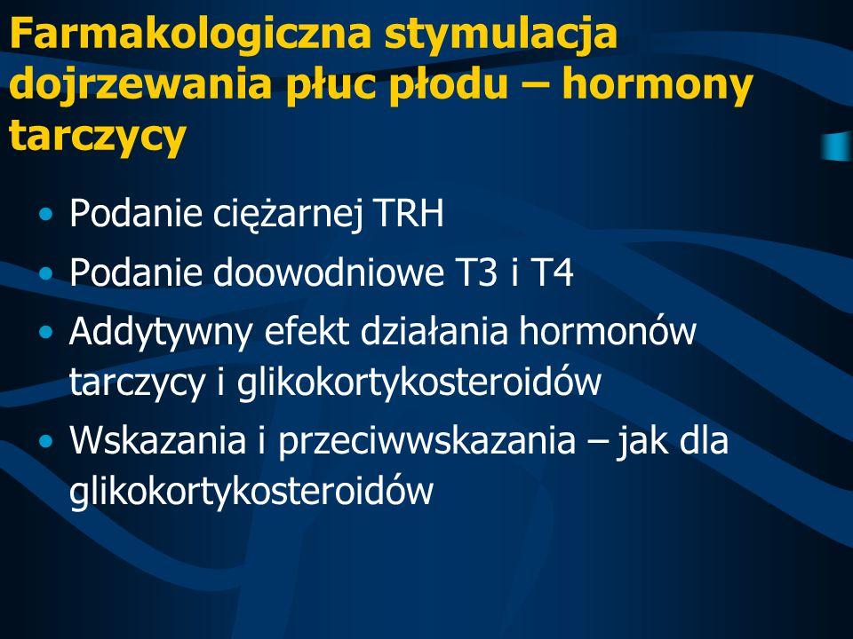Farmakologiczna stymulacja dojrzewania płuc płodu – hormony tarczycy