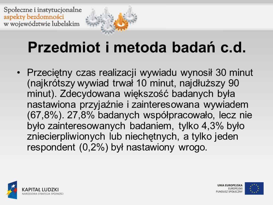 Przedmiot i metoda badań c.d.