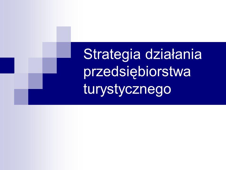Strategia działania przedsiębiorstwa turystycznego