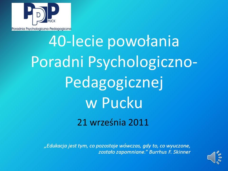 40-lecie powołania Poradni Psychologiczno-Pedagogicznej w Pucku